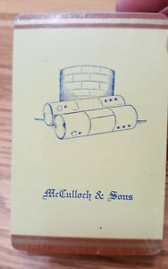 McCulloch-amp-Sons-Sealed-Unopened-Deck-of-Cards-1946-CALENDAR-Included-Vintage