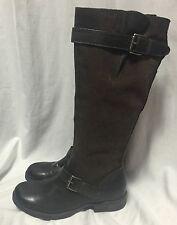 MIZ MOOZ Archer Harness Boots Equestrian Snakeskin Brown Leather Riding 10/41