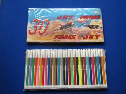 1970/'s   /' Jet Fibres /'  Felt Tip Crayon  Set totally unused and unopened.