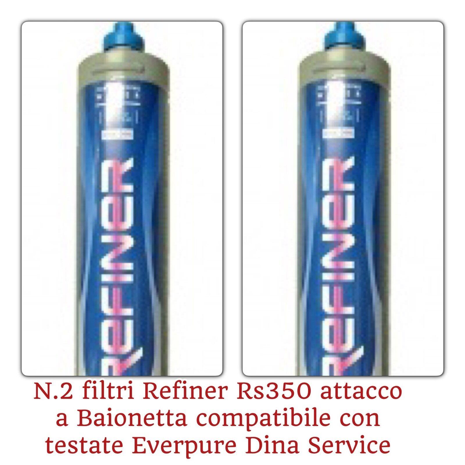 Refainer Filtro Filtri  RS350 N.2  per purificatore acqua casa bar