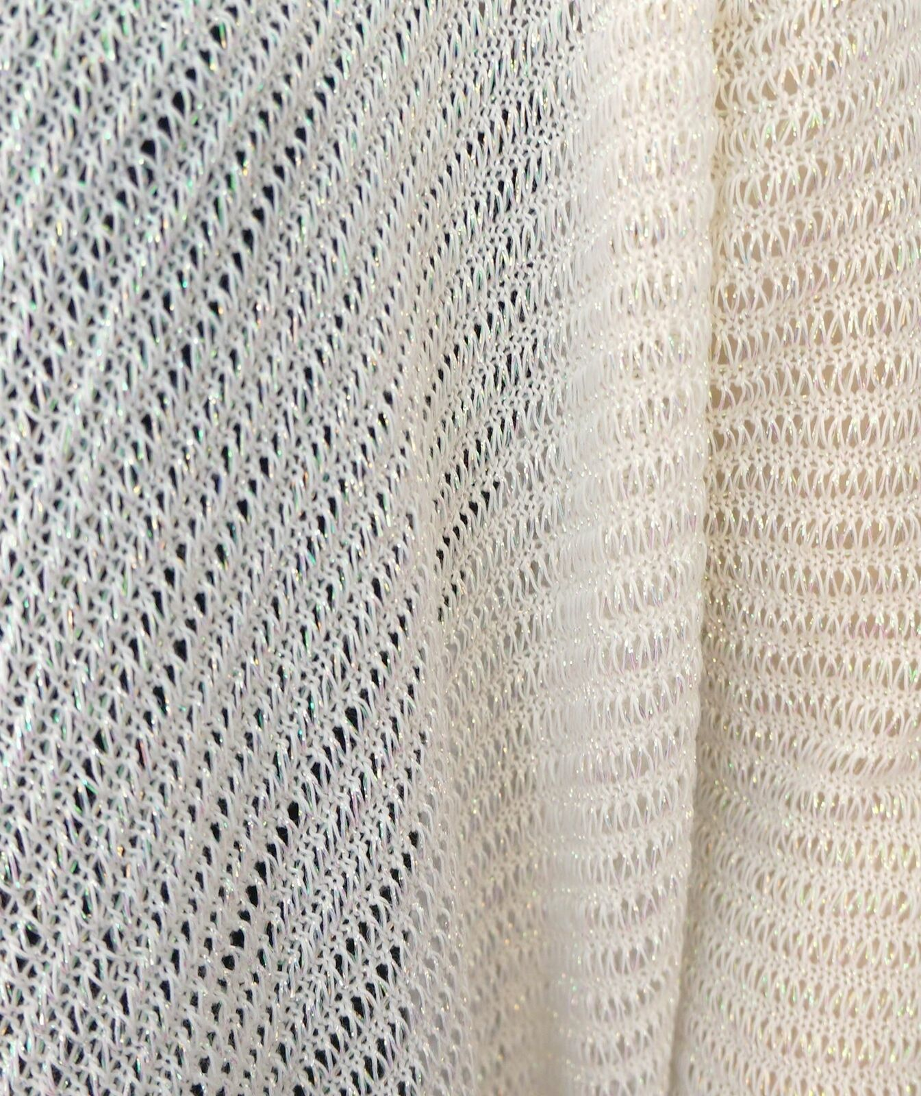 DKNY Open Weave Iridescent Ivory PS Cotton Blend Draped Cardigan PS Ivory a648c7