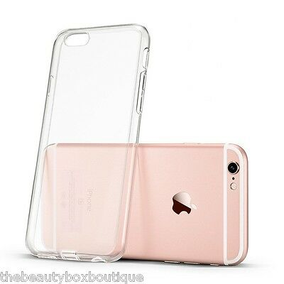Transparent Silicone Slim Clear Gel Case & Screen Protector for iPhone 6 6S (P7)