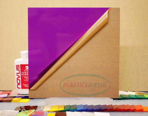 "4-pack Purple Translucent Acrylic Plexiglass sheet 1//8/"" x 3/"" x 3/"" #2287"