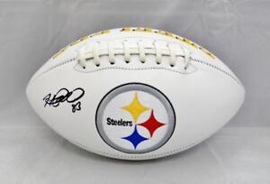 Heath-Miller-Autographed-Pittsburgh-Steelers-Logo-Football-JSA-Witnessed-Auth