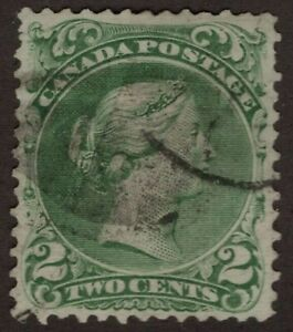 CANADA-used-24-2c-Large-Queen-Issue-1868-FINE