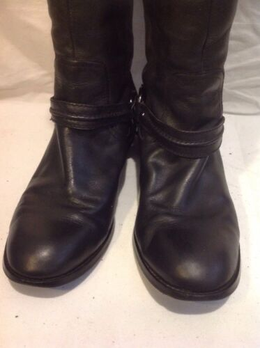 Leather Boots Size High Black 7 Knee Autograph FqOn1xwHI