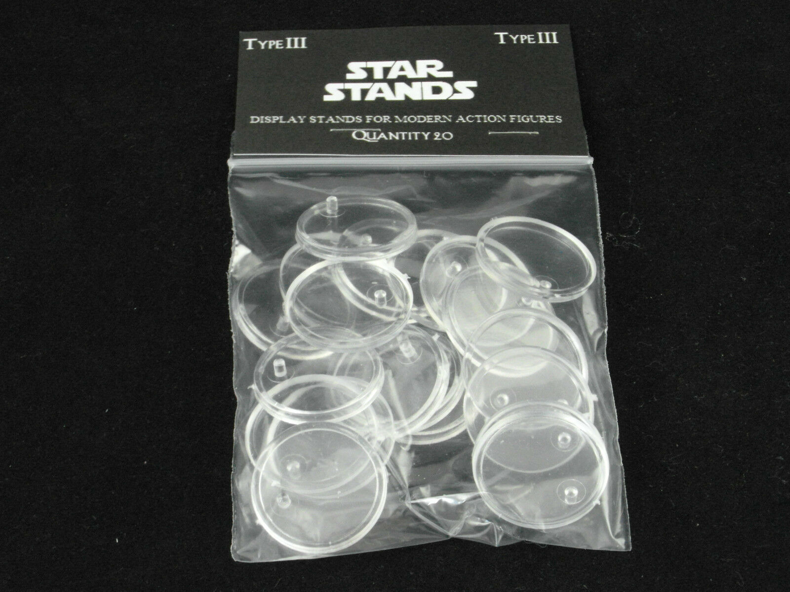 100 x Small Small Small Disc Star Wars MODERN action figure DISPLAY STANDS - T3c 6e8585