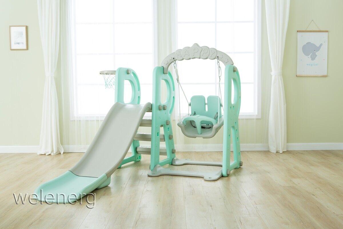 3in 1 Kinder Spielplatz Rutsche Rutsche Rutsche mit 180 cm Kinderschaukel Spielplatzschaukel 89cb1c
