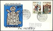 Andorra Spa 1975 FDC 96-97b Union Europa Cept Religion Painting Gemälde Art