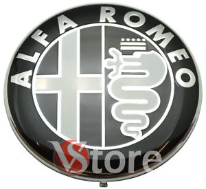 2-STEMMI-ALFA-ROMEO-LOGO-FREGI-74mm-Nero-ANTERIORE-POSTERIORE-EMBLEMA-Black-edit