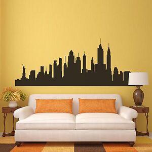New York City Skyline Wall Decal Nyc Silhouette Vinyl Home