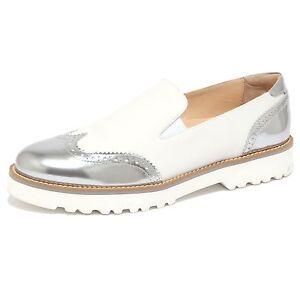 1502Q mocassino HOGAN PANTOFOLA bianco/argento scarpa donna shoe women