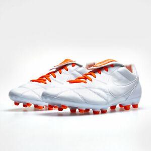 Dettagli su Scarpe da calcio uomo Nike The Nike Premier II FG 917803 101 Bianco Arancione