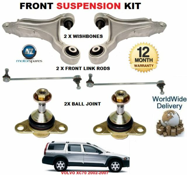 FOR Volvo XC90 02/> FRONT 2X WISHBONE ARMS /& 2x BALL JOINT 2x STABILISER LINK BAR