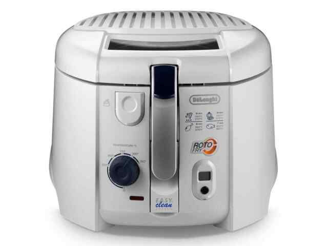 DeLonghi F 28313.W1 Roto Fry Fritteuse weiß bis 190°C 1800 W