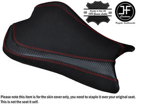 CARBON-GRIP-RED-DS-ST-CUSTOM-FITS-KAWASAKI-ZX6R-636-09-15-FRONT-SEAT-COVER