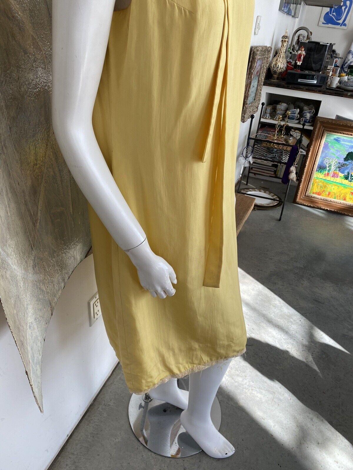 Vintage Alice John Rogers Yellow Silk Pussybow Sh… - image 6