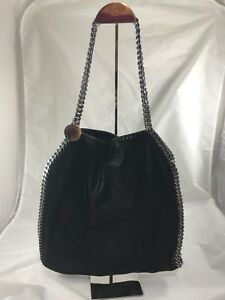 ef3e7d4d34fe Image is loading STELLA-MCCARTNEY-SMALL-FALABELLA-SHAGGY-DEER-TOTE-In-