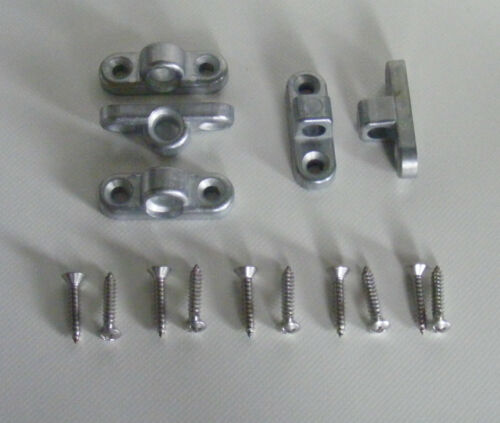 5 Stück Wandösen mit Schrauben,3 x Waagerechte /& 2 x Senkrechte Montage Set NEU