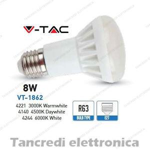 Lampadina-led-V-TAC-8W-45W-E27-VT-1862-R63-faretto-spot-bulb-reflector-lampada