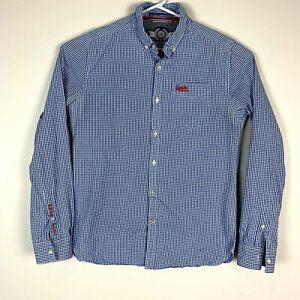 Superdry-039-London-Button-Down-039-Dress-Shirt-Size-Men-039-s-Large