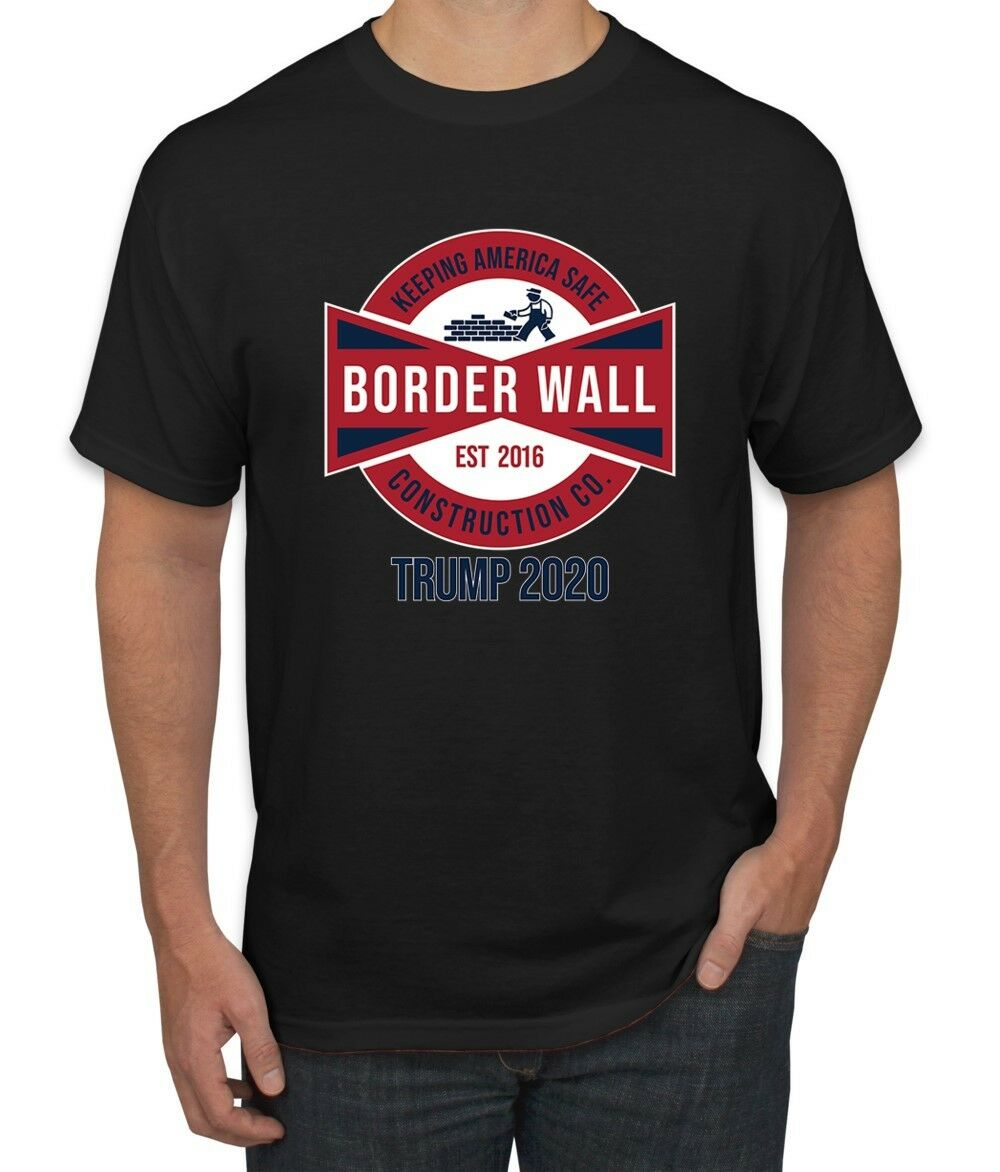 Best Wall Safes 2020 Border Wall Construction Co Trump 2020 Keep America Safe Mens MAGA