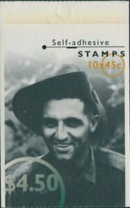 Australia-booklet-1995-SG1525-1529-45c-WWII-Heroes-MNH