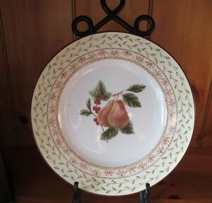 Image is loading Johnson-Brothers-Pears-Fruit-S&ler-Dinner-Plate-Made- & Johnson Brothers Pears Fruit Sampler Dinner Plate Made in England | eBay