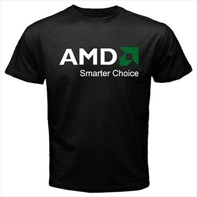 AMD Smarter Choice Black T-Shirt Size S to 3XL Brand New