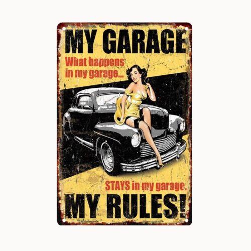 Bild Retro Blechschild Garage 30 x 20 cm Wandbild Bilder 2304