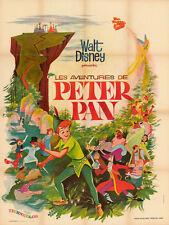 affiche PETER PAN - DISNEY - DESSIN ANIME