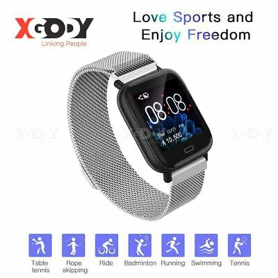 XGODY Smartwatch Bluetooth Pulsuhr Blutdruck Wasserdicht für Android iOS Samsung