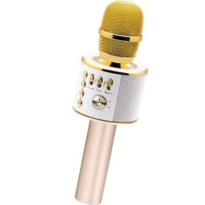 Bluetooth-Karaoke-Mike-with-Portable-Speaker-Gold