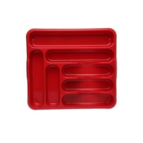 Wham plastique grand couverts Draw plateau avec 7 compartiment est à base de piment rouge