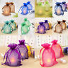 50pc Organza Gift Bags Jewelry Candy Bag Wedding Favors Bags Mesh Gift PouchesJX