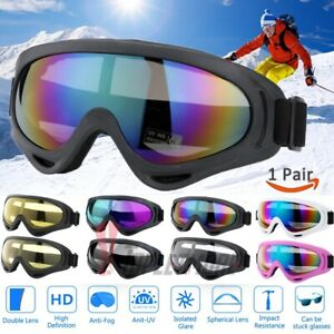 Snow Ski Goggles Men Women Anti-fog Lens Snowboard Snowmobile Motorcycle UV