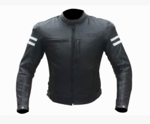 veste en cuir moto vintage cafe racer blouson ce taille l 50 xl 52 54 3xl 4xl ebay. Black Bedroom Furniture Sets. Home Design Ideas