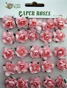Adhesive pink paper roses flowers card making new ebay image is loading adhesive pink paper roses flowers card making new mightylinksfo