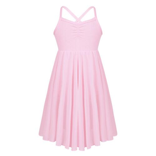 UK Girl Lyrical Ballet Dance Dress Kid Leotard Gym Dance Wear Tutu Skirt Costume