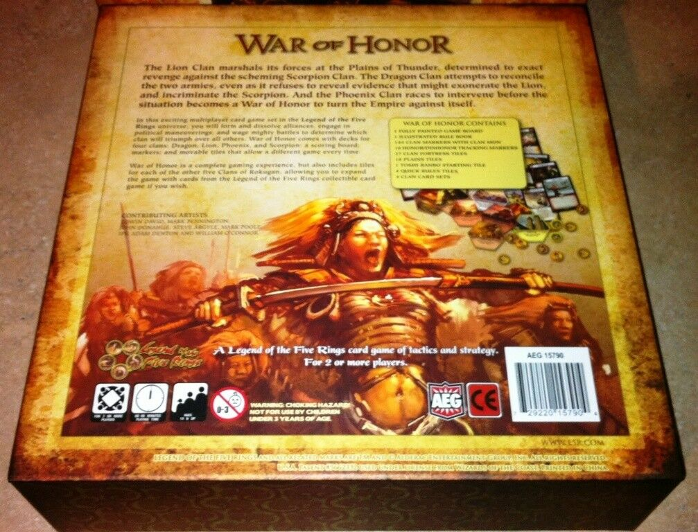 AEG - Tavola Scheda Wargioco - Guerra Of Honor - - - a Legend Of The Cinque Anelli f33446