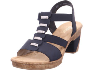Details zu Rieker Damen Sandale Sandalette Sommerschuhe blau
