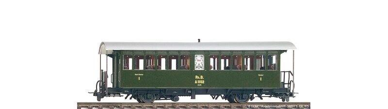 BEMO 3232142 RHB A 1102 a vapore treno autoro, Traccia h0m