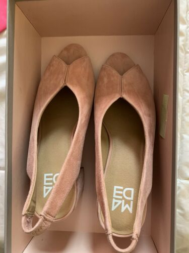 M4DE Safi Slingback Sandels Apricot Size 7m