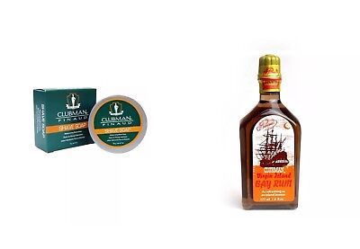 Aspiring Clubman Pinaud Shaving Set Aftershave & Pre-shave Shave Soap 59gr.+after Shave Bay-rum 177ml-ausstore Reputation First Shaving & Hair Removal