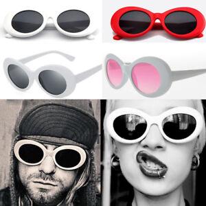 Quality Oval Glasses Kurt Cobain Sunglasses Nirvana Fancy Dress Grunge Red White Ebay