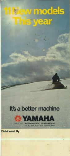 1973 Yamaha Snowmobile Brochure 11 Models