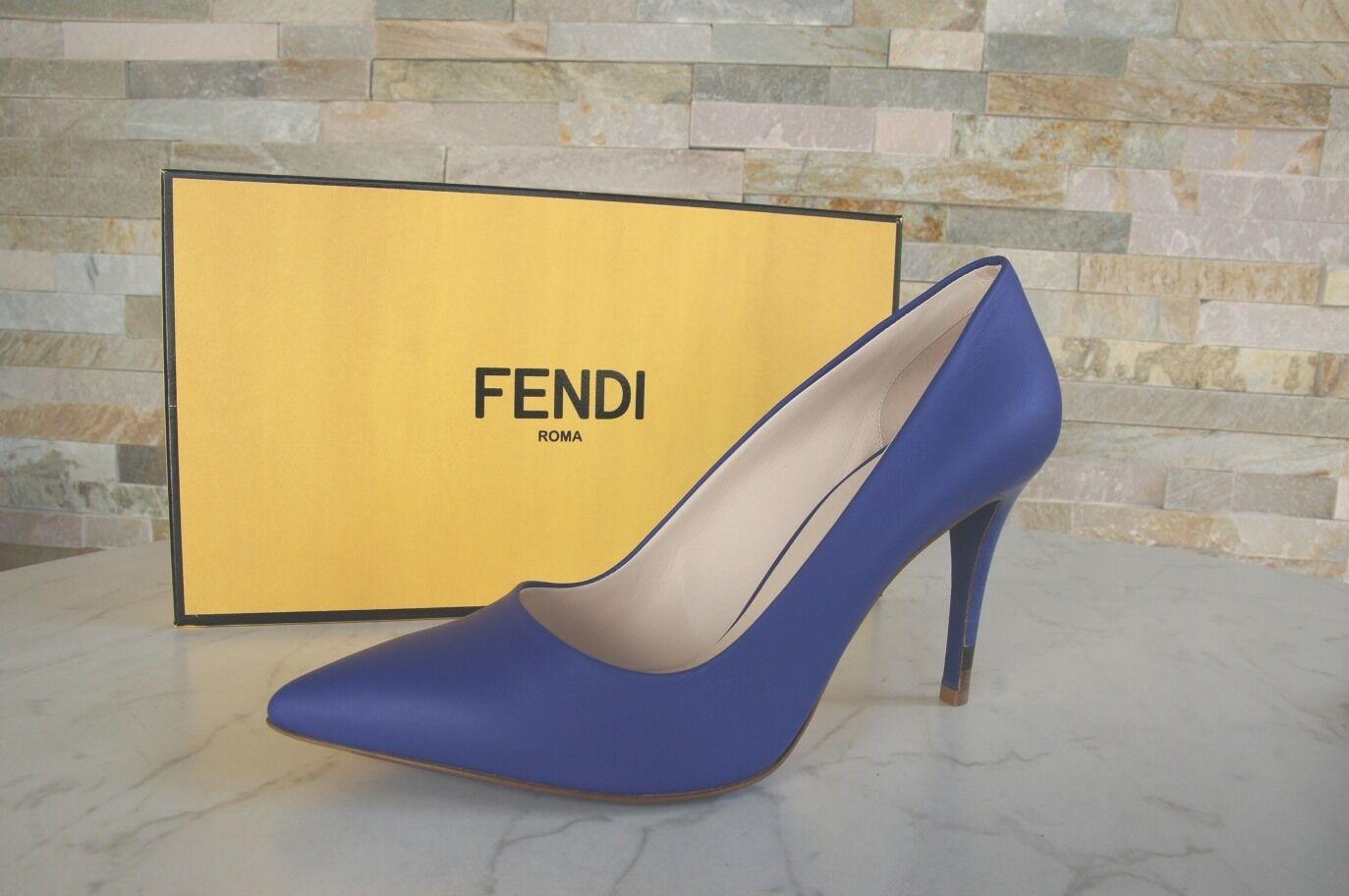 Lujo fendi talla 39,5 zapatos de salón salón salón tacón alto zapatos zapatos azul Neon nuevo ex PVP  ahorra hasta un 30-50% de descuento