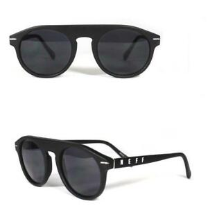 8a7e5186fc5 Image is loading Neff-Round-14555-Sunglasses-Shades-Glasses-Mens-Black