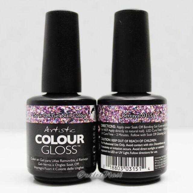 Artistic Nail Design Soak off GEL Polish Colour Gloss Purple Betrayal 03151  .5oz - Artistic Nail Design Soak Off GEL Polish Colour Gloss Purple