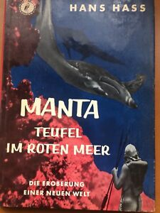 Manta-Teufel-Im-Roten-Meer-By-Hans-Hass-German-Hard-back-Book-With-Dust-Cover